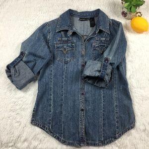 DKNY Denim  - Jeans Long Sleeve Jacket - Size L